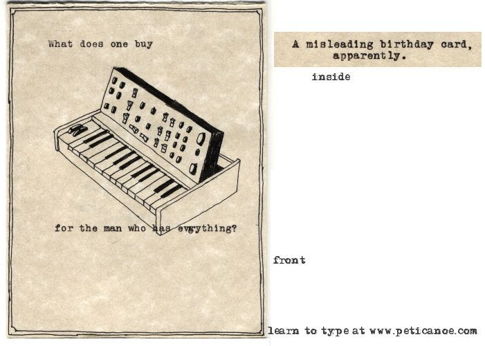 if i had a minimoog i would probably just keep it, frankly